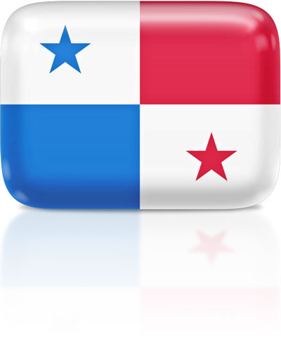 Panamanian flag clipart rectangular