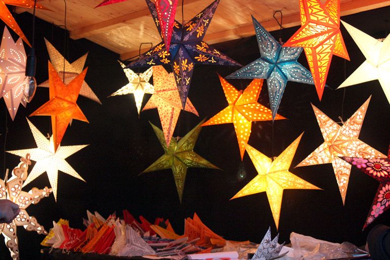 star lights stall southbank centre london christmas market