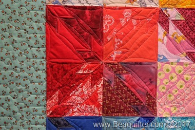 Rainbow hunter star quilt4