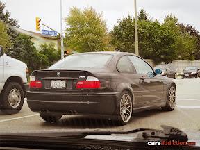 Black BMW M3 E46