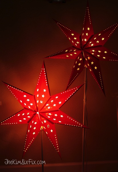 Glowing Red Star Lights from Ikea