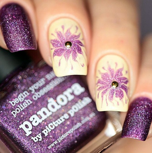 Latest Flower Nail Art Desgins Ideas In 2018 5