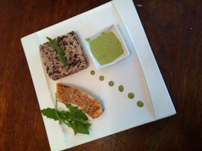 Saumon au sésame et sa sauce au thé vert - recette indexée dans la rubrique Poissons