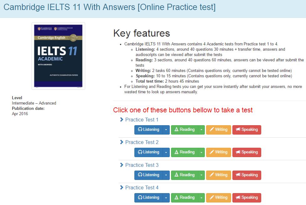 Cambridge Ielts Practice Test Book Free Download