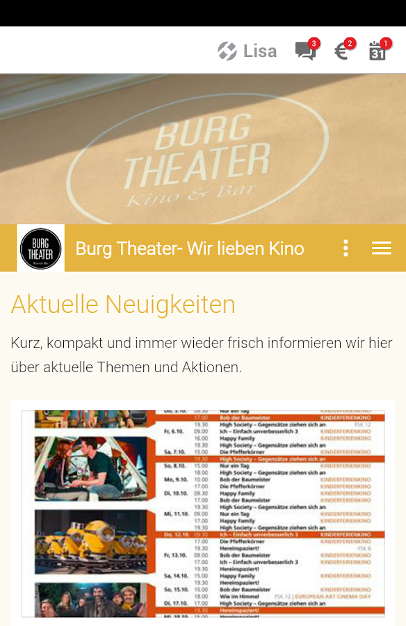 Kino Burg – Screenshot