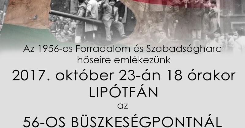 1956-os megemlékezés Lipótfán a Büszkeségpontnál 2017.10.23