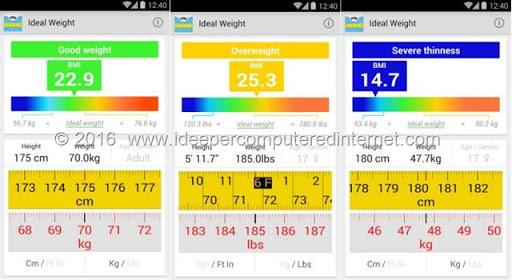 peso-ideale-app