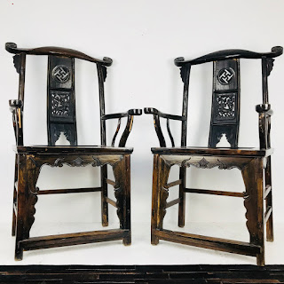 19th C. Chinese Chair Pair #2