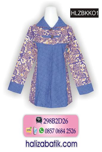 jual baju batik murah, atasan batik modern, contoh desain baju batik