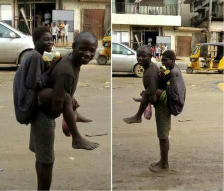 Mentally Challenged Man Spotted Backing His Lover