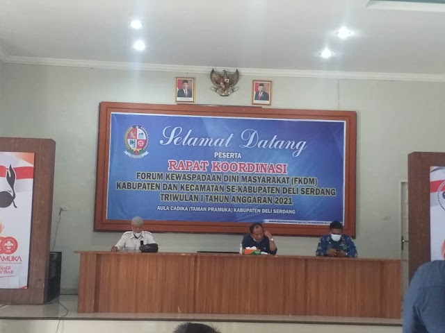 Kesbangpol Kab.Deliserdang Gelar Rakor Dengan FKDM Kabupaten dan Kecamatan