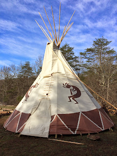 An awesome teepee that the Bushcraft School has.