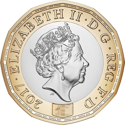 The new 12-sided £1 coin