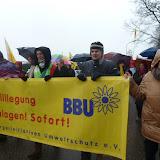 De actievoerders vertegenwoordigden verschillende anti kernenergie groeperingen. Iedere groepering droeg hun eigen spandoek