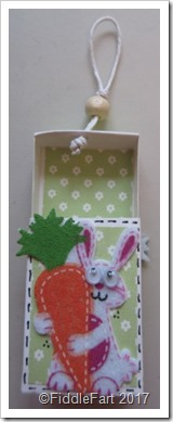 Easter Bunny Matchbox Favour.