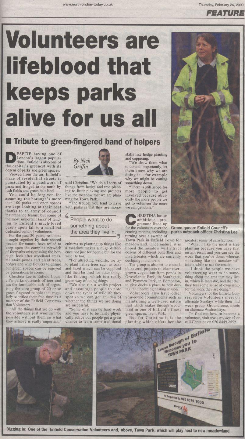 Enfield Gazette, Page 4, 26th Feb 2009