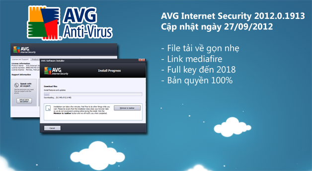 AVG Internet Security 2012.0.1913 full key đến 2018