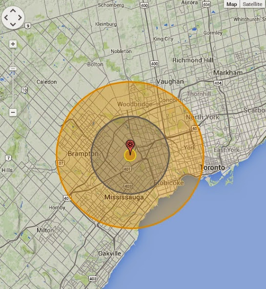 Nukemap3d shows what nuclear bombs would do to canadas cities the website allows you to interactively simulate the effects of a nuclear blast of various weapons on google maps it must be understood that any open sciox Choice Image