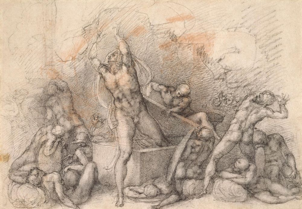 michelangelo-drawings-medici-chapel-3