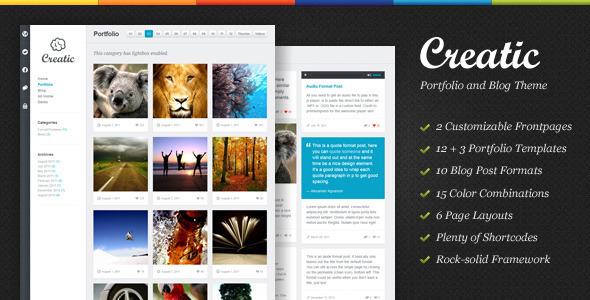 Themeforest Creatic - Portfolio WordPress Theme v1.1