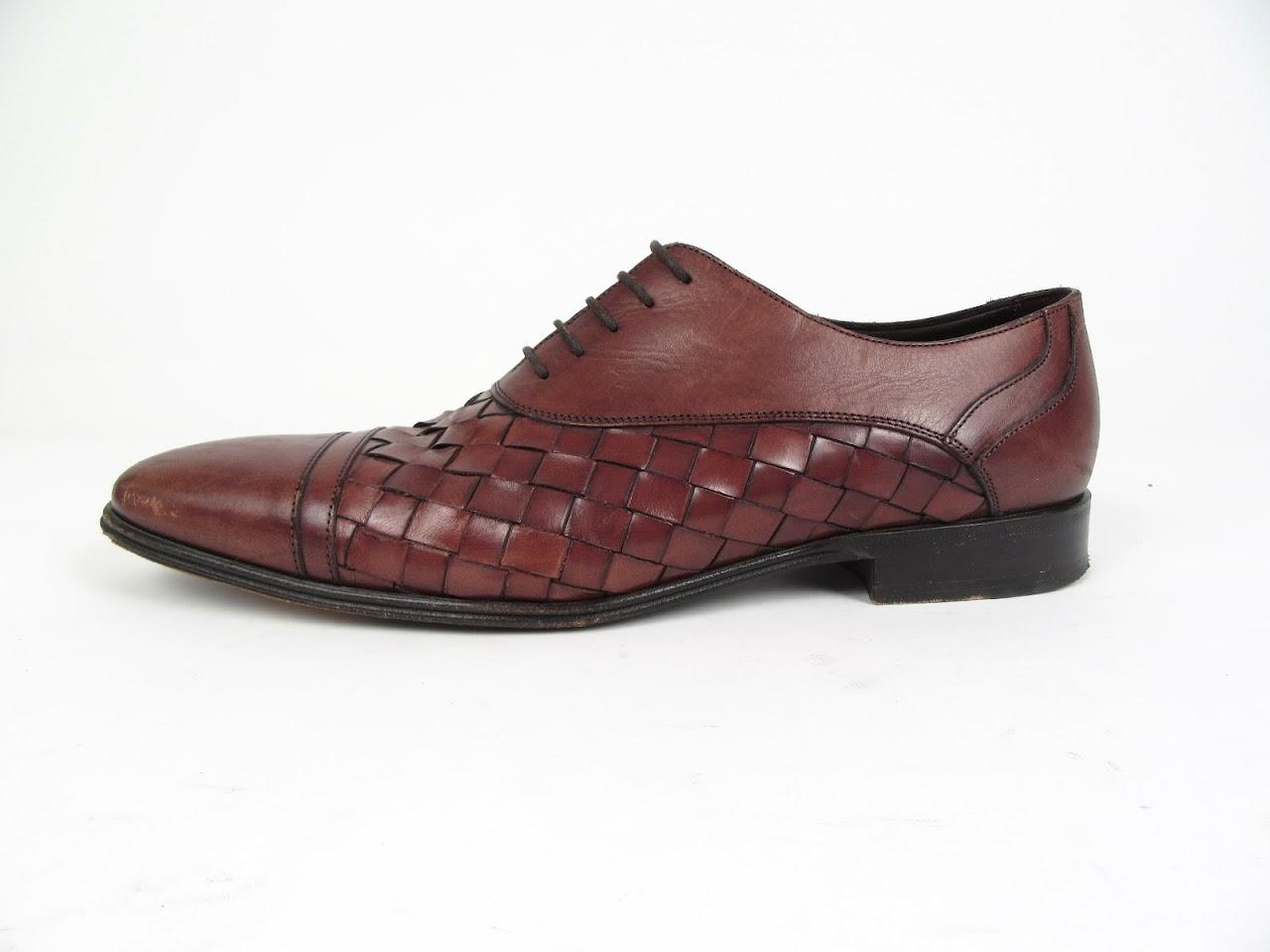 Dolce & Gabbanna Woven Leather Cap Toe Brogue