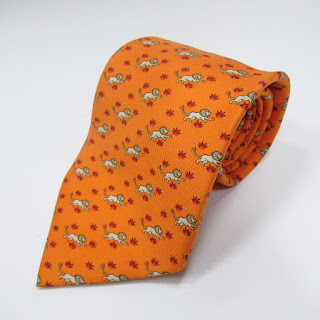 Hermès Lion and Hare Tie