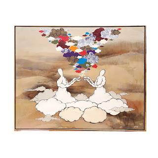 Rick Midler 'We Make Magic Together' Mixed Media Art