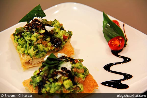 Veg Crumbling Crostini served at 212 All Day Cafe & Bar at Phoenix Marketcity in Pune