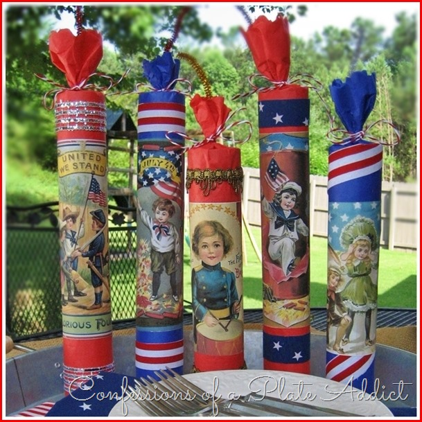 CONFESSIONS OF A PLATE ADDICT Country Living Inspired Vintage Firecracker Party Favors
