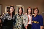 Among those treated to appetizers by Grady Spears are Monique Schill, Julie Melton, Karen Nichols and Whitney Langdon.