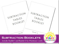 FREE Subtraction Booklets