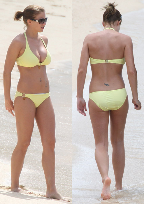 Gemma Atkinson in a Bikini, Front, Back and Side:curve,girl friend,bikini girl,skinny Girls