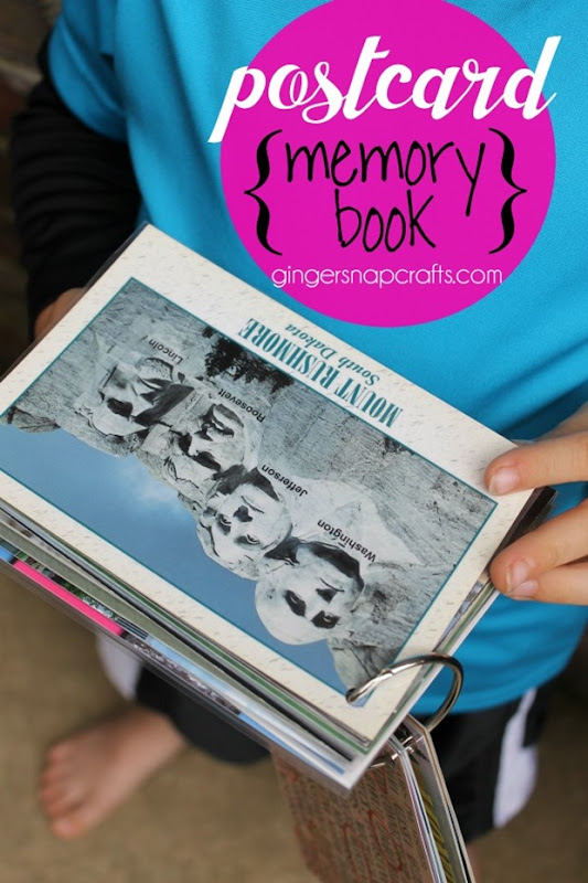 Design Dazzle postcard memory book at GingerSnapCrafts.com #postcards #family #vacations