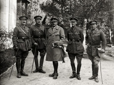 Surrender of Jerusalem, 1917, British generals, mat05788