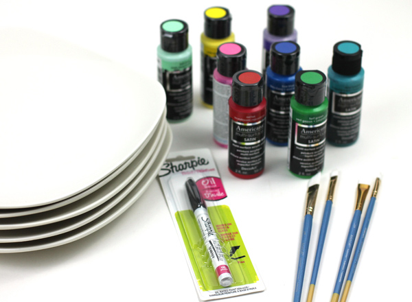 Custom painted DIY plate supplies