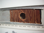 """2 9/16"""" Hole drilled into home"""