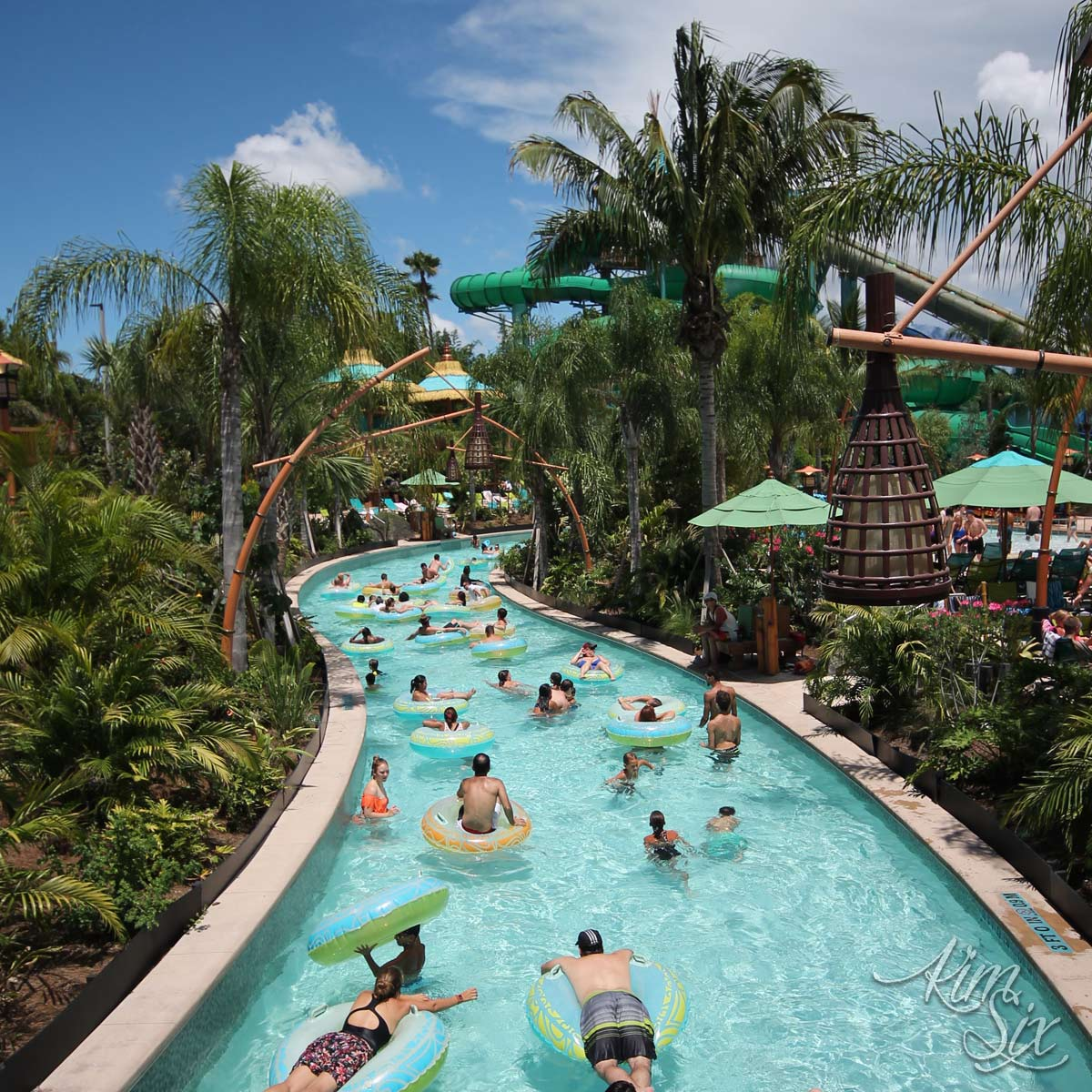 Volcano bay lazy river