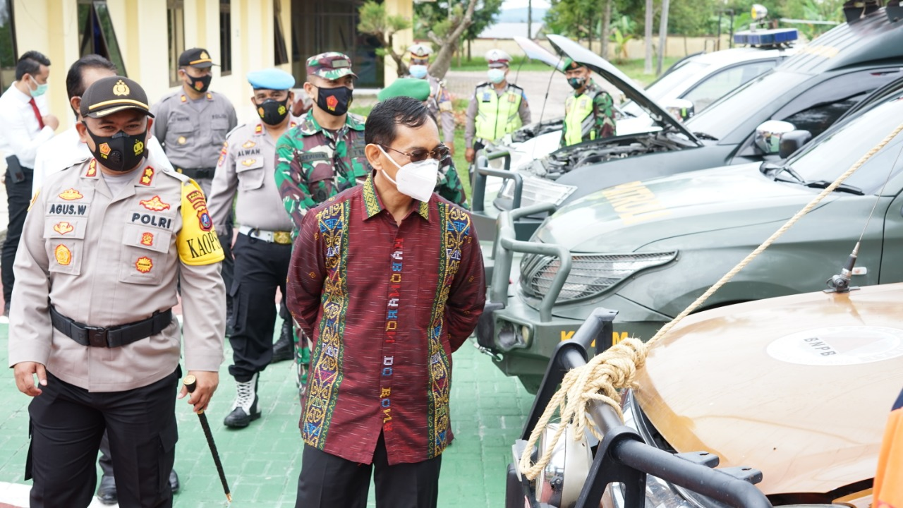 Polres Simalungun Gelar Apel Aman Nusa II TOBA 2020