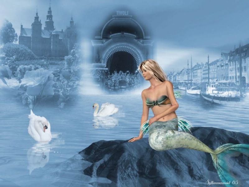 Two Swans And Little Mermaid, Undines
