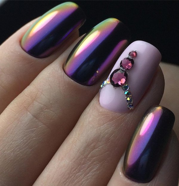 Latest Chrome Nail Art Designs For Woman In 2018 3