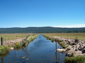 Irrigation ditch outside Klamath Agency, Oregon