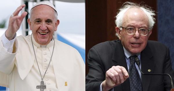 Pope Francis met Bernie Sanders, but did Bernie Sanders meet Pope Francis?