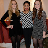 WWW.ENTSIMAGES.COM -   Georgia Sanders , Dionne Bromfield and Georgia Edmonds    at  the Benefit Boutique store Carnaby Street Jan 4th 2014                                             Photo Mobis Photos/OIC 0203 174 1069