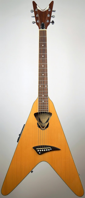 Dean electric acoustic VCO_NT flying v shaped vee Guitar