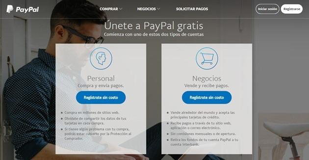 Abrir mi cuenta Paypal
