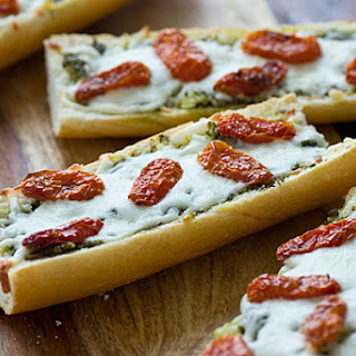 French Bread Pizza with Pesto & Sun-Dried Tomatoes
