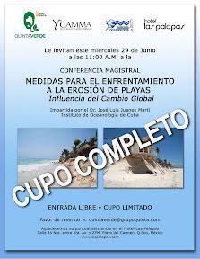 Conferencia – Medidas Para el Enfrentamiento a La Erosión de Playas