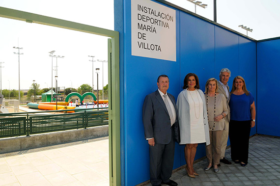 Inauguración del Polideportivo María de Villota