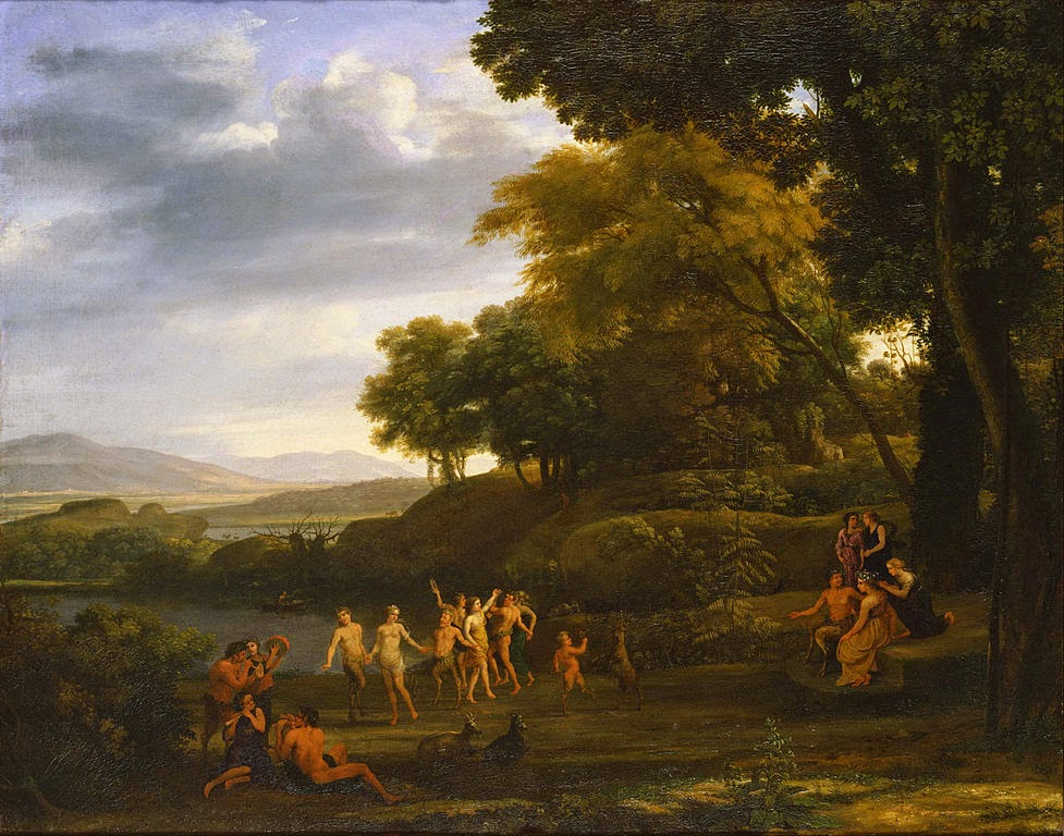 Claude Lorrain - Landscape with Dancing Satyrs and Nymphs - Google Art Project