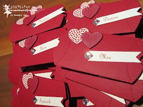 stampin up pillow box hochzeit hearts a flutter wedding bitty banners fähnchen
